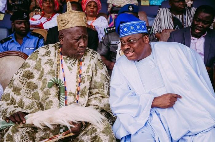 Ajimobi warns Olubadan to stay away from politics