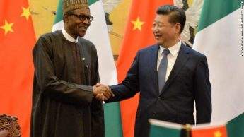 Buhari with Chinise President xinping