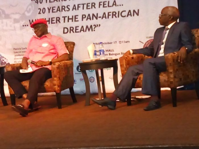 Ogbodo and Falana at the event