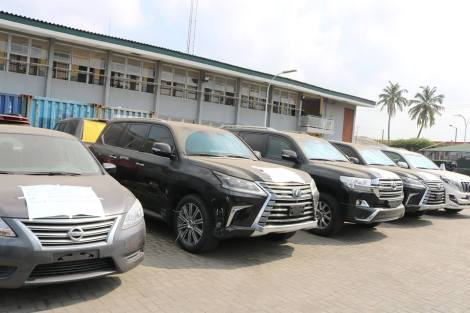 64 Assorted Vehicles Including Bullet Proof Jeeps Intercepted By Customs Officials. Photos