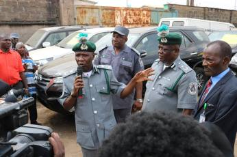 64 Assorted Vehicles Including Bullet Proof Jeeps Intercepted By Customs Officials. Photos8