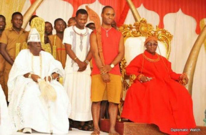 Benin Oba and Oba Akiolu