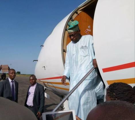 Chief Olusegun Obasanjo Arrives Makurdi, Benue State