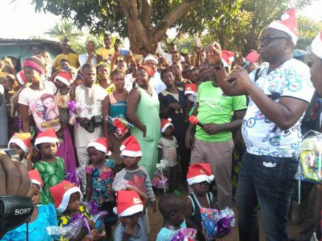Father Christmas Governor, Fayose Gives Children Xmas Gifts