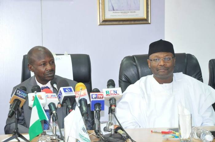 Image result for EFCC, INEC sign deal hindering politicians from buying votes