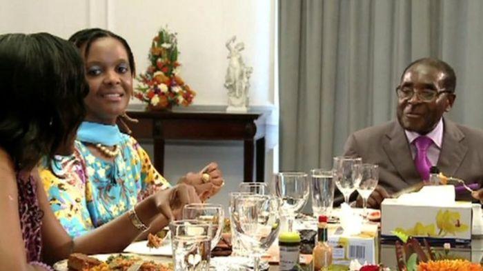 MUGABE AT DINNER