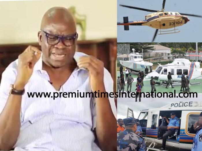 Nigeria Police helicopter threatening my life – Fayose
